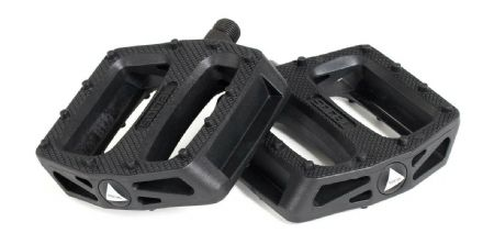 "Social Budgie BMX / Mountain Bike Nylon Platform Pedals - Black 9/16"" Thread"